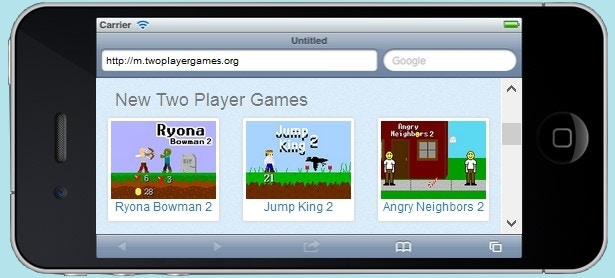Two Player Games iPhone5 Version